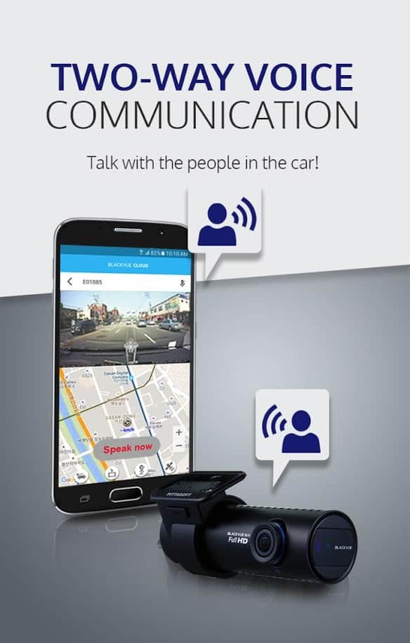 Blackvue app two-way communication allows you to talk with people in the car