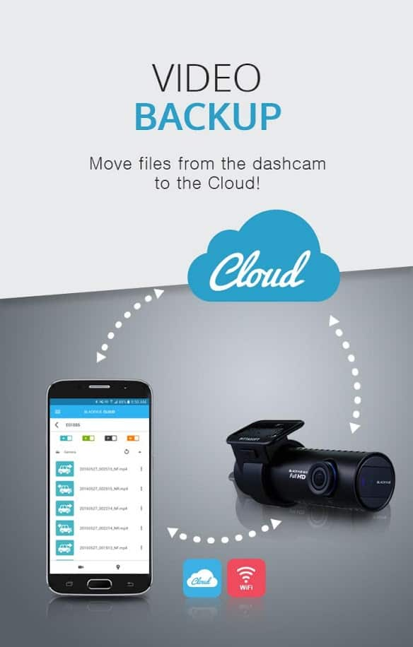 Blackvue app move files from the dashcam to the cloud